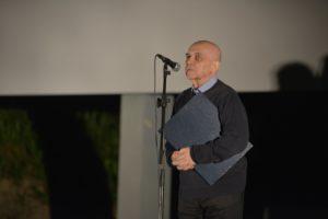 Petar Krelja prilikom primanja nagrade Zlatni Oktavijan životno djelo (fotografija: Davor Zupičić)