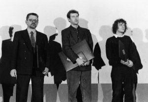 Pobjednici 1. Dana hrvatskog filma: Zlatko Pavlinić, Zrinko Ogresta i Goran Dukić - foto iz arhive Veljka Krulčića